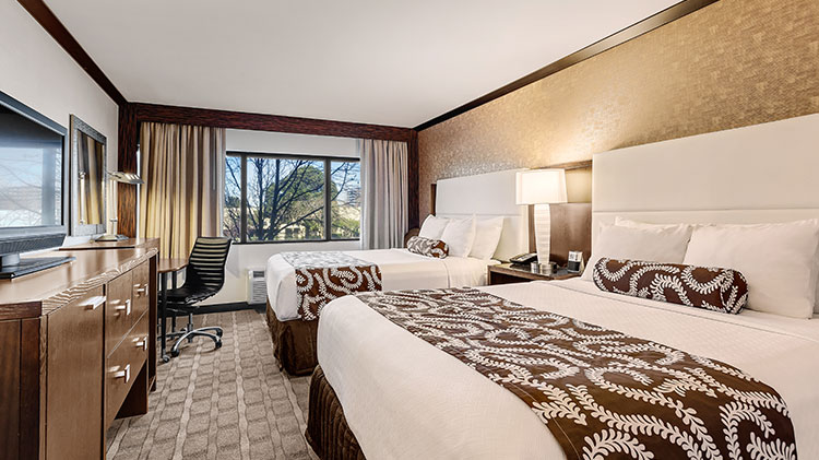 Double Bed Guestrooms at Crowne Plaza - Foster City Hotel, California